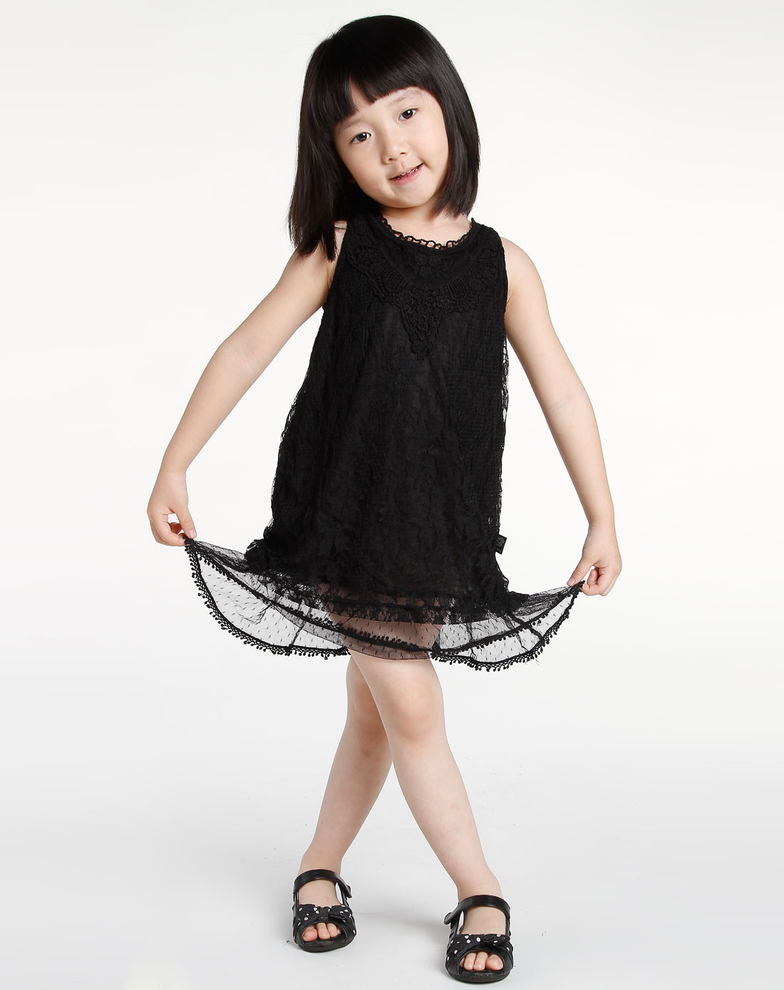 女童木炭黑背心裙-唯品会手机版
